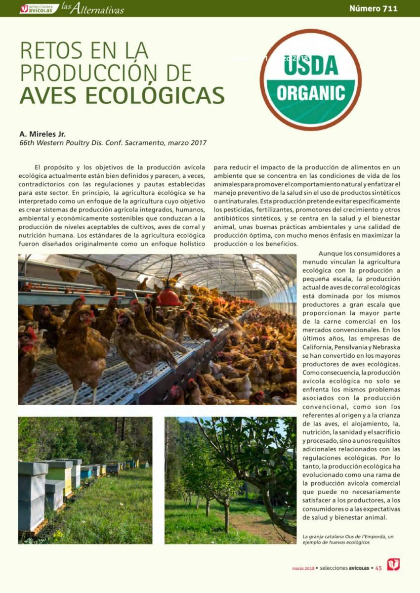 RETOS EN LA PRODUCCIÓN DE AVES ECOLÓGICAS
