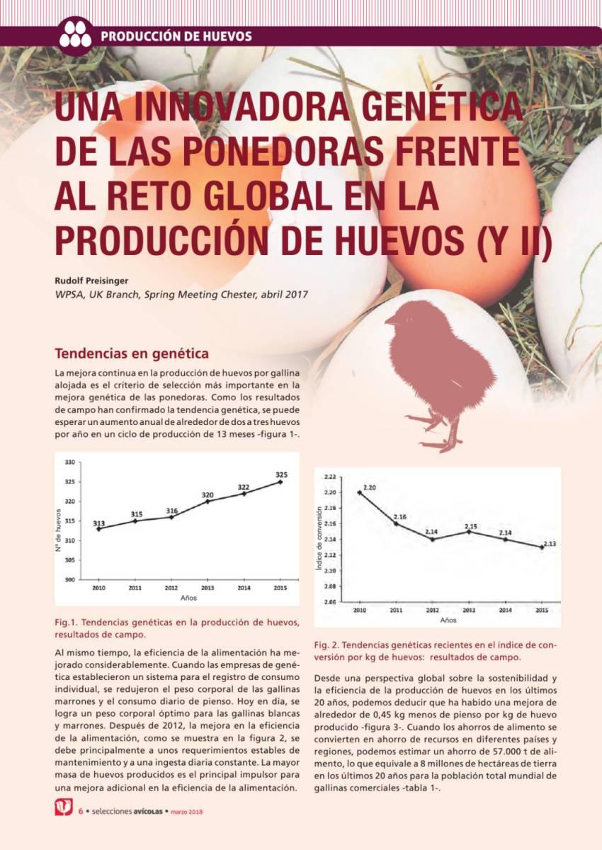 UNA INNOVADORA GENÉTICA DE LAS PONEDORAS FRENTE AL RETO GLOBAL EN LA PRODUCCIÓN DE HUEVOS (y II)