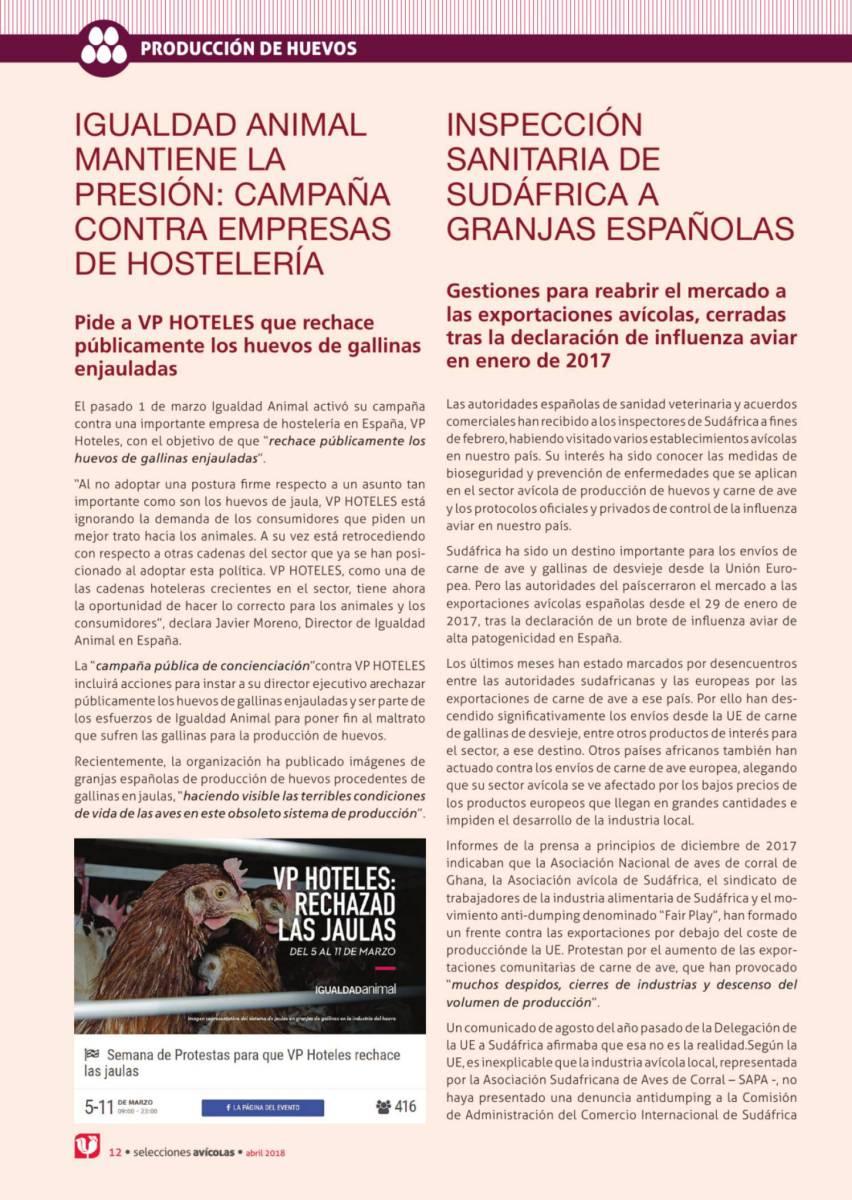 Igualdad animal mantiene la presión: campaña contra empresas de hostelería