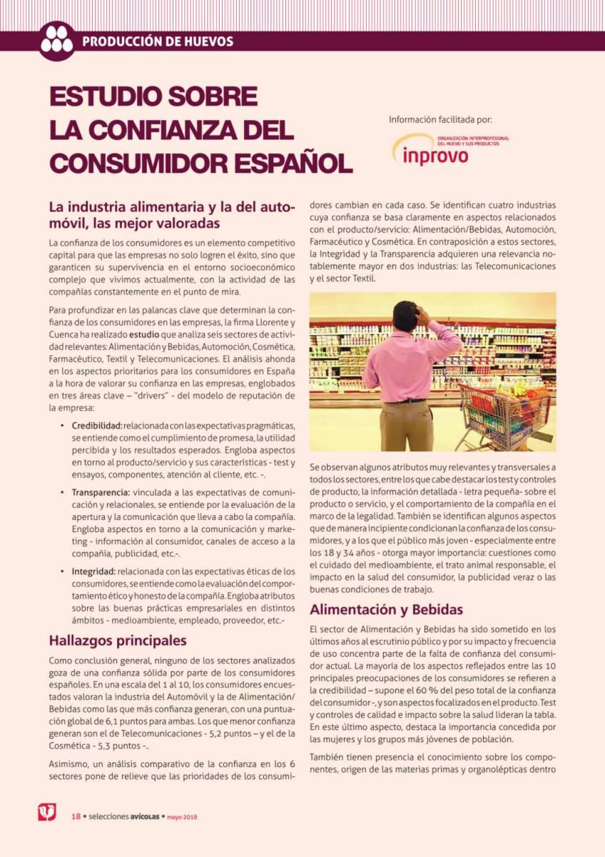 ESTUDIO SOBRE LA CONFIANZA DEL CONSUMIDOR ESPAÑOL