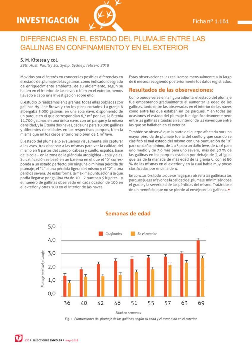 DIFERENCIAS EN EL ESTADO DEL PLUMAJE ENTRE LAS GALLINAS EN CONFINAMIENTO Y EN EL EXTERIOR