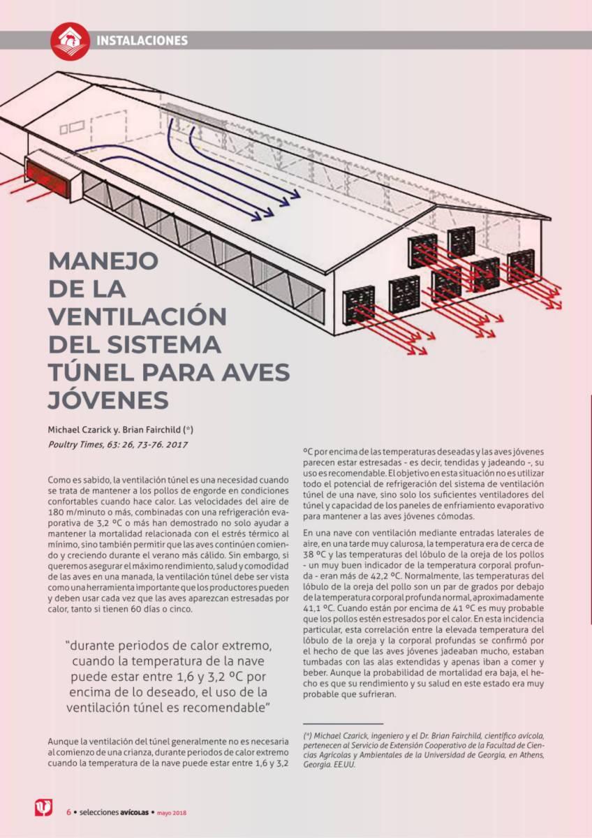 MANEJO DE LA VENTILACIÓN DEL SISTEMA TÚNEL PARA AVES JÓVENES