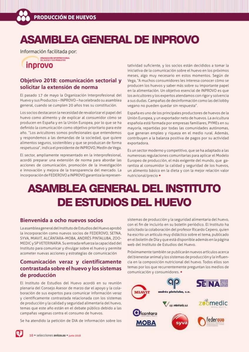 ASAMBLEA GENERAL DE INPROVO