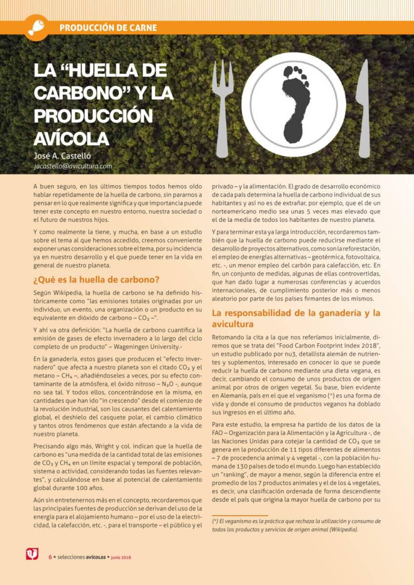 """LA """"HUELLA DE CARBONO"""" Y LA PRODUCCIÓN AVÍCOLA"""