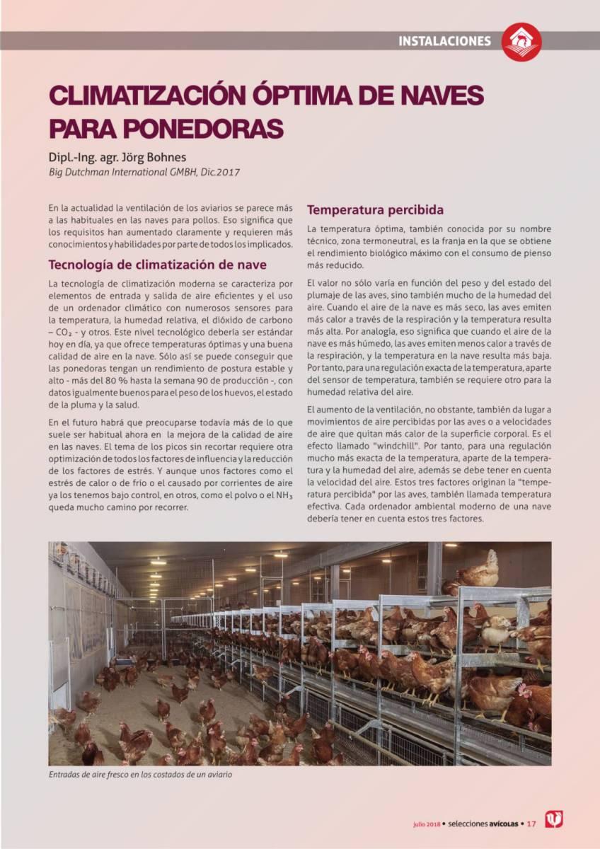 CLIMATIZACIÓN ÓPTIMA DE NAVES PARA PONEDORAS
