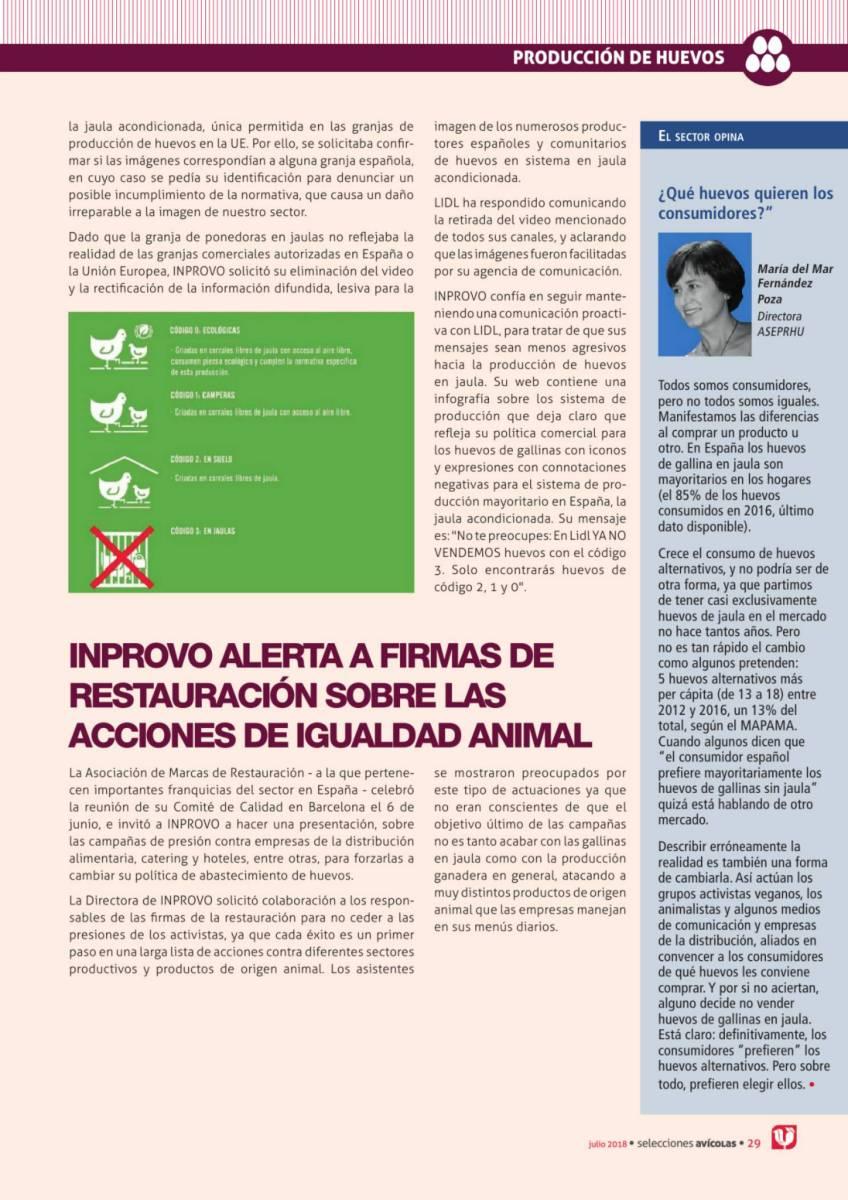 INPROVO ALERTA A FIRMAS DE RESTAURACIÓN SOBRE LAS ACCIONES DE IGUALDAD ANIMAL
