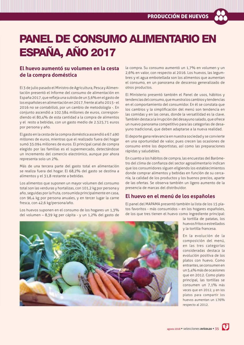 Panel de consumo alimentario en España, año 2017