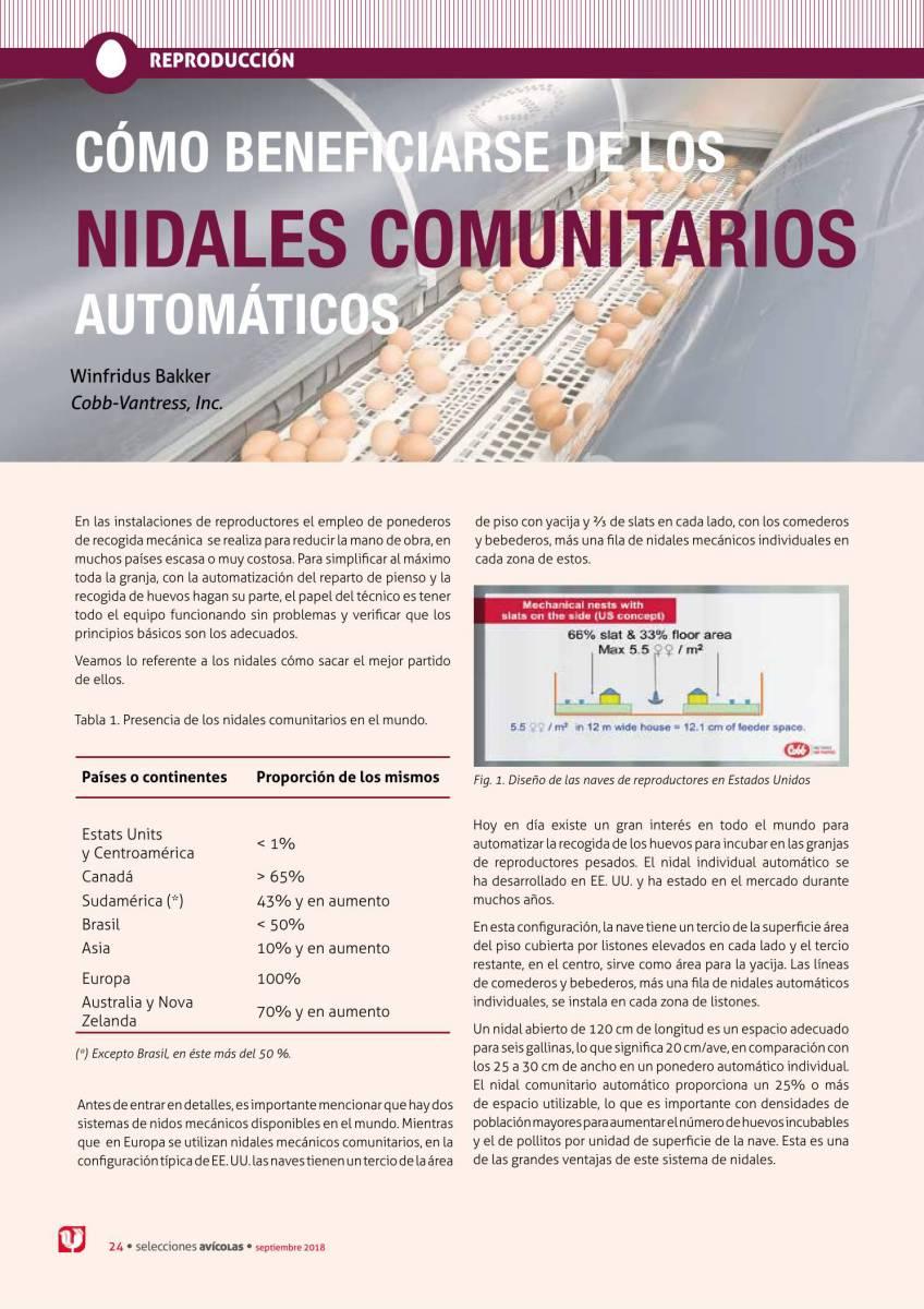 Cómo beneficiarse de los nidales comunitarios automáticos