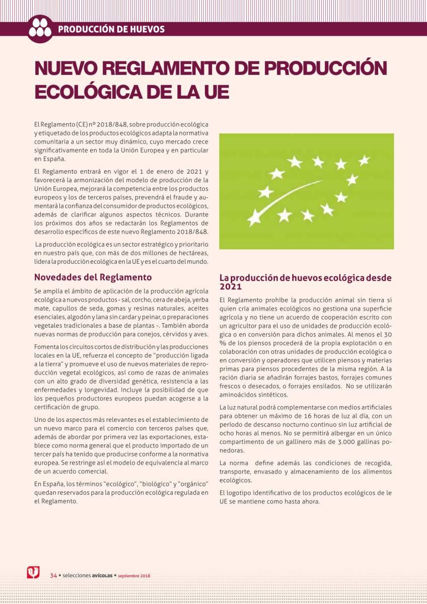 Nuevo reglamento de producción ecológica de la UE