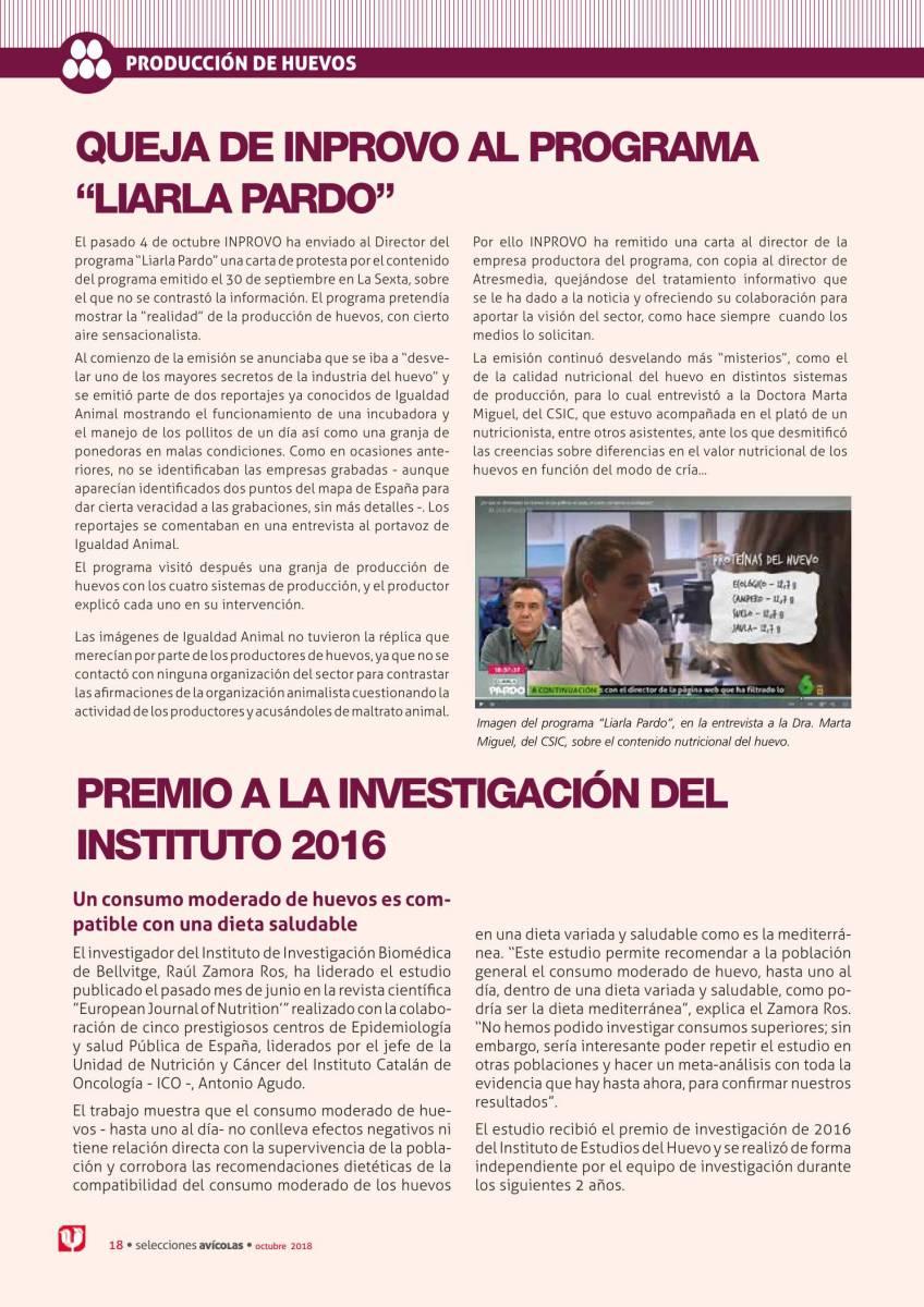 """Noticias: Queja de Inprovo al programa """"Liarla Pardo"""""""