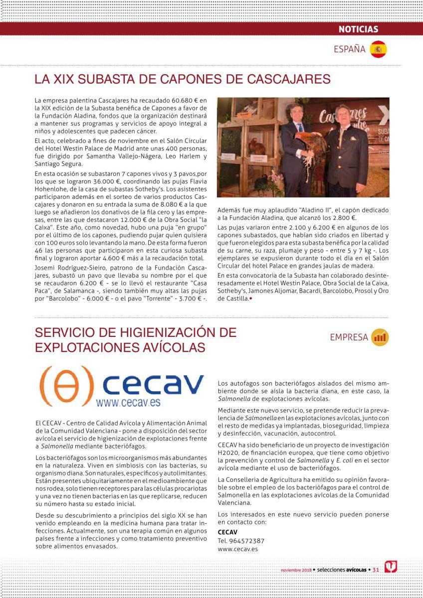 Noticias: La XIX subasta de capones de cascajares