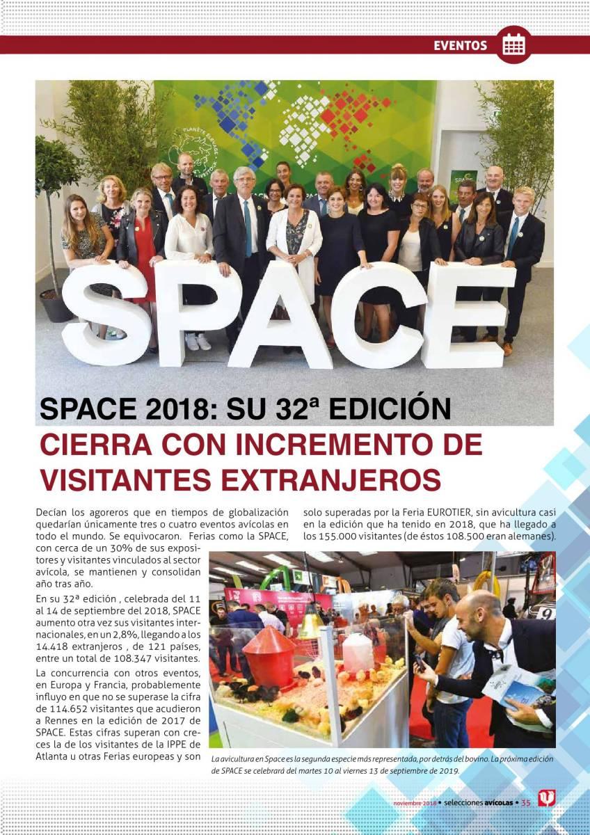 SPACE 2018: Su 32ª edición cierra con incremento de visitantes extranjeros