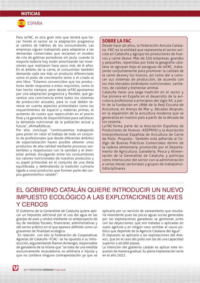 EL GOBIERNO CATALÁN QUIERE INTRODUCIR UN NUEVO IMPUESTO ECOLÓGICO A LAS EXPLOTACIONES DE AVES Y CERDOS