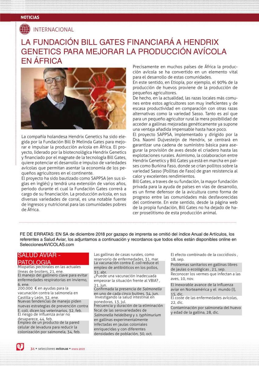 LA FUNDACIÓN BILL GATES FINANCIARÁ A HENDRIX GENETICS PARA MEJORAR LA PRODUCCIÓN AVÍCOLA EN ÁFRICA