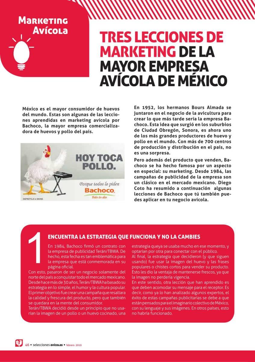 TRES LECCIONES DE MARKETING DE LA MAYOR EMPRESA AVÍCOLA DE MÉXICO
