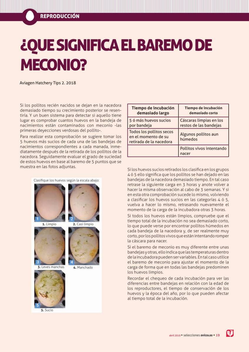 ¿QUÉ SIGNIFICA EL BAREMO DE MECONIO?