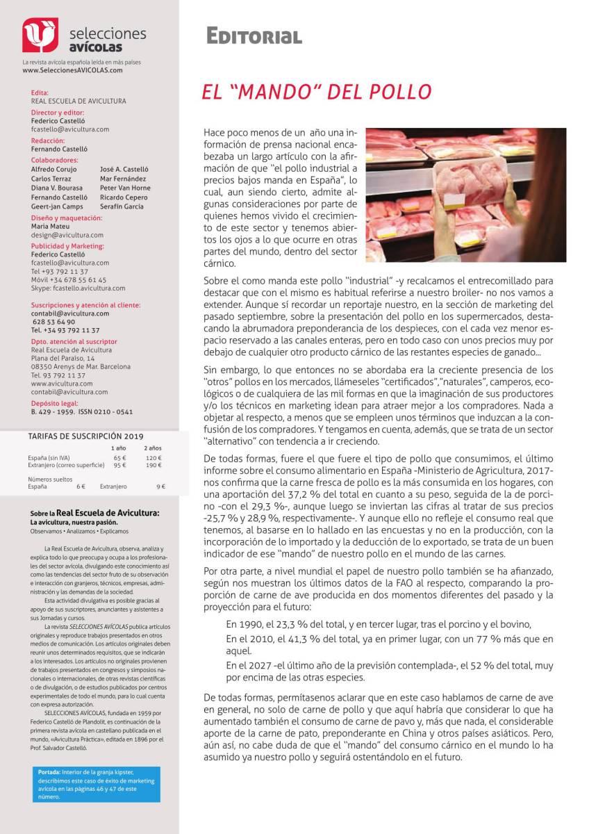 Editorial El mando del pollo
