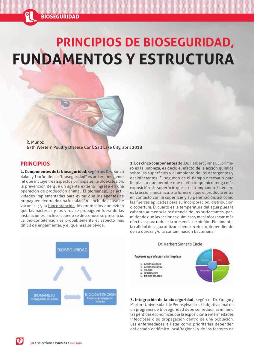 PRINCIPIOS DE BIOSEGURIDAD, FUNDAMENTOS Y ESTRUCTURA