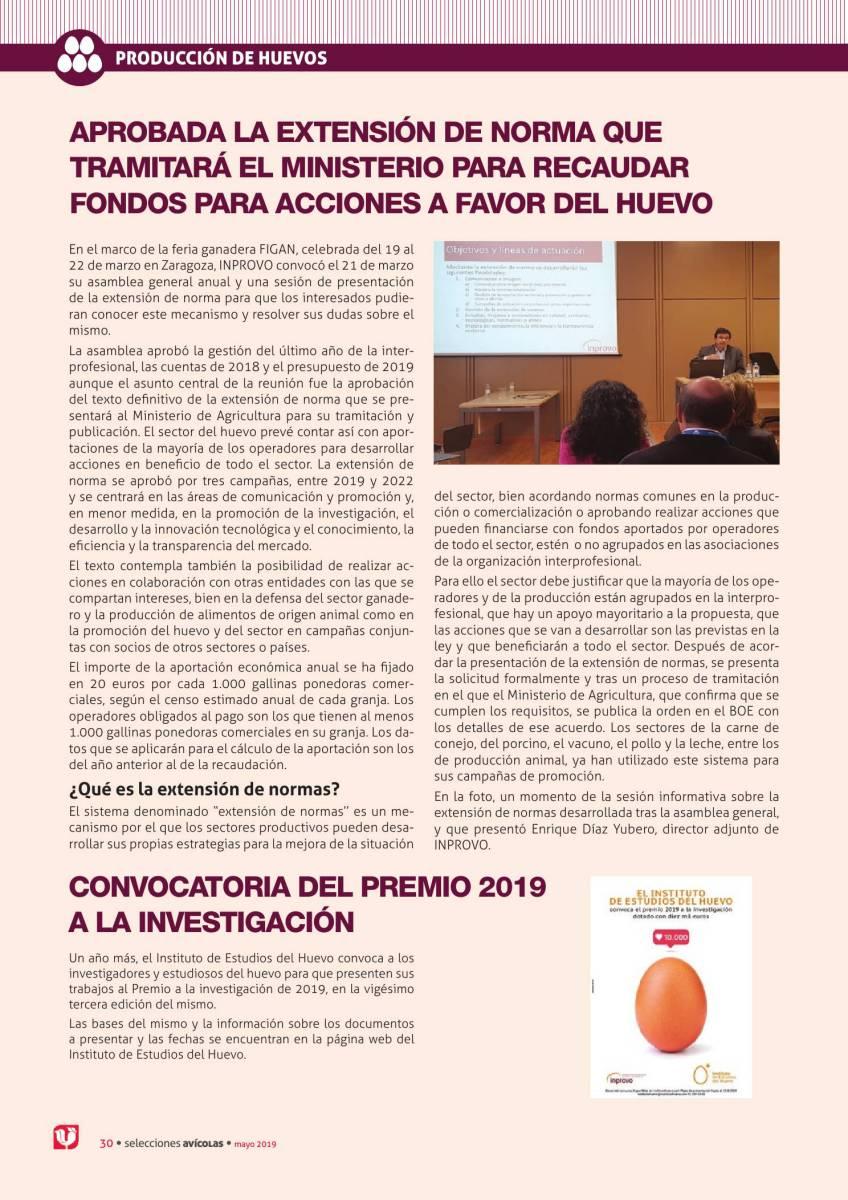 Aprobada la extensión de norma que tramitará el Ministerio para recaudar fondos para acciones a favor del huevo