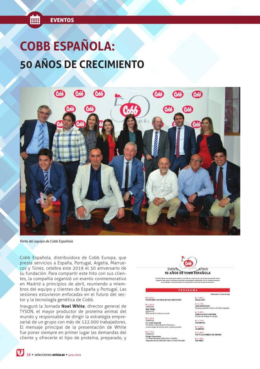 COBB Española, 50 años de crecimiento