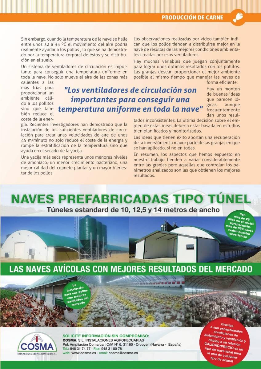 Publicidad Cosma naves tipo túnel para avicultura