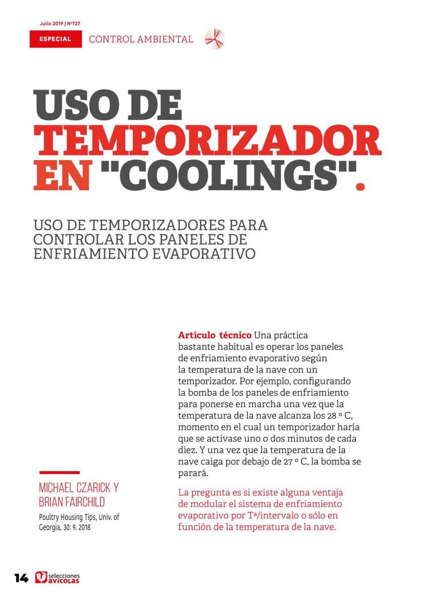 Uso de temporizadores para controlar los coolings o paneles de control evaporativo