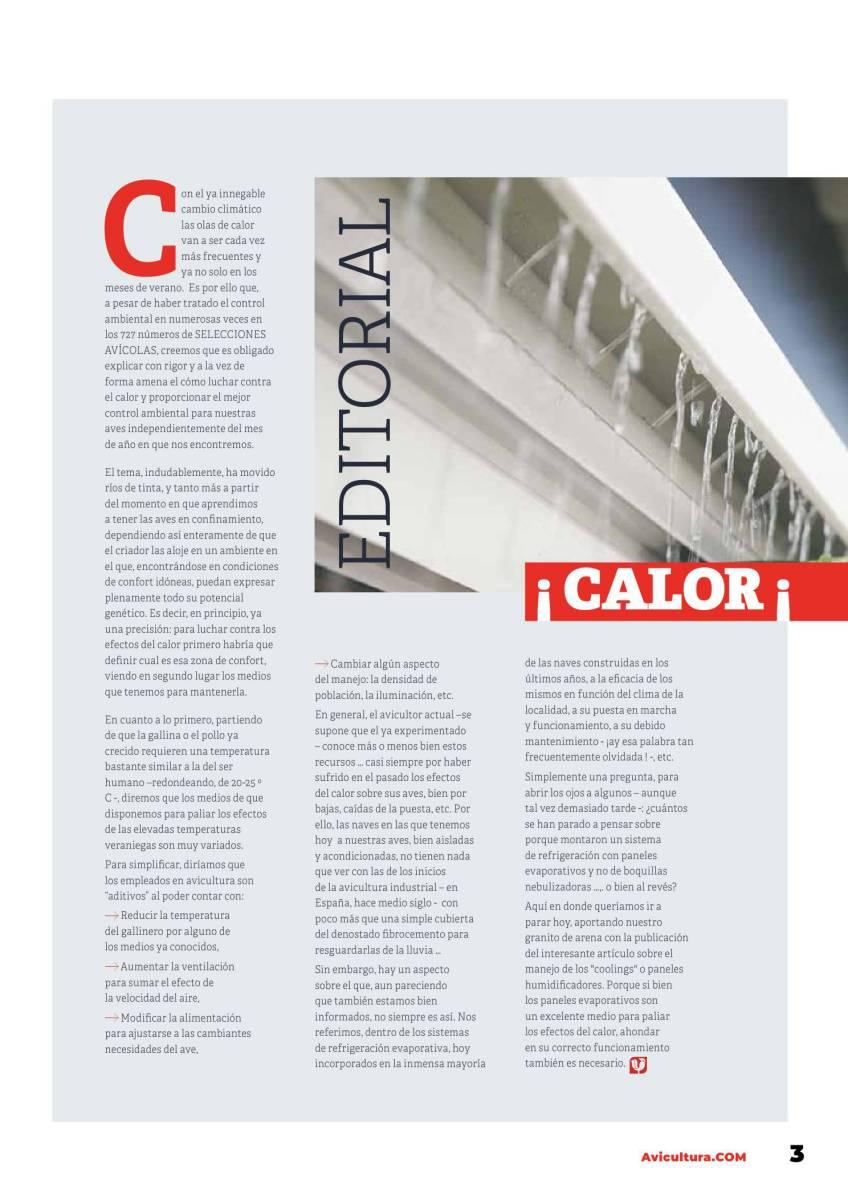 Editorial SELECCIONES AVICOLAS 727 especial Control Ambiental en avicultura