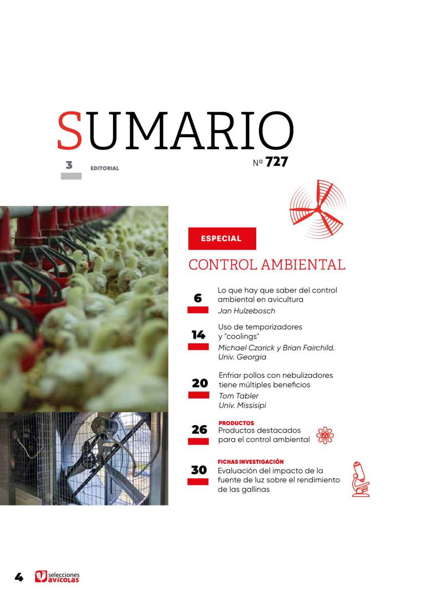 Sumario Selecciones Avícolas Especial CONTROL AMBIENTAL
