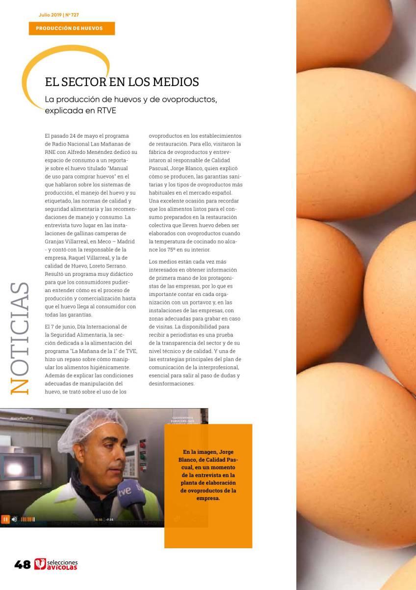 El sector del huevo en los medios