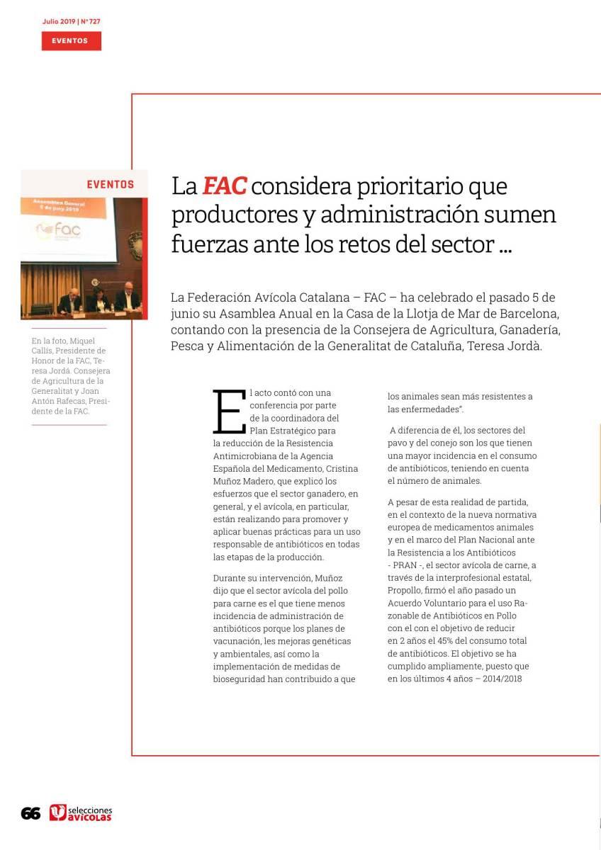 La FAC considera prioritario que productores y administración sumen fuerzas ante los retos del sector …