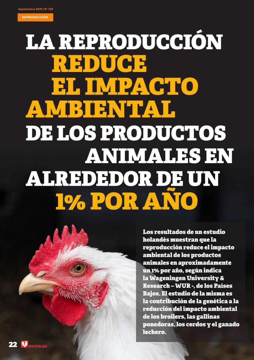 La reproducción reduce el impacto ambiental de los productos animales en alrededor de un 1% por año