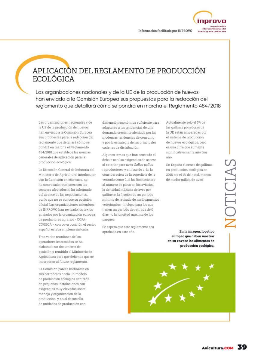 Aplicación del Reglamento de Producción Ecológica