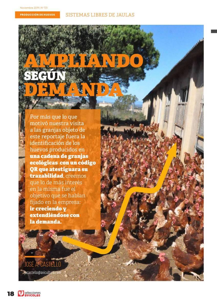 ESPECIAL HUEVOS LIBRES DE JAULAS: Ampliando según demanda