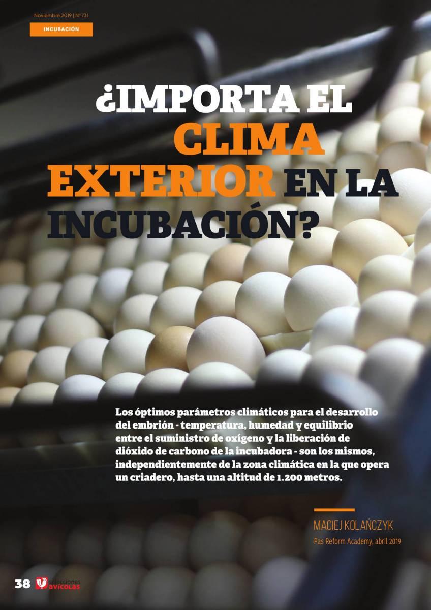 ¿Importa el clima exterior en la incubación?