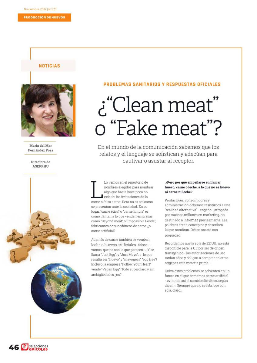 """¿""""Clean meat"""" o """"Fake meat""""?"""