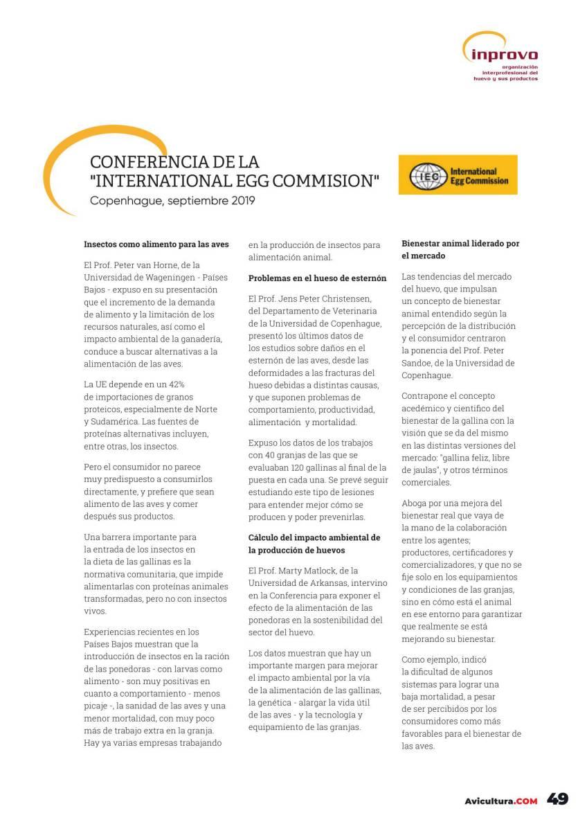 Conferencia de la International Egg Commision