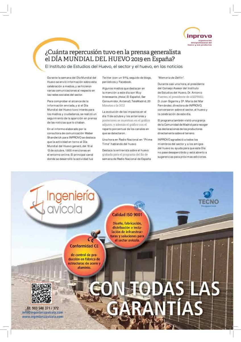 ¿Cuanta repercusión tuvo en la prensa generalista el DIA MUNDIAL DEL HUEVO en España?