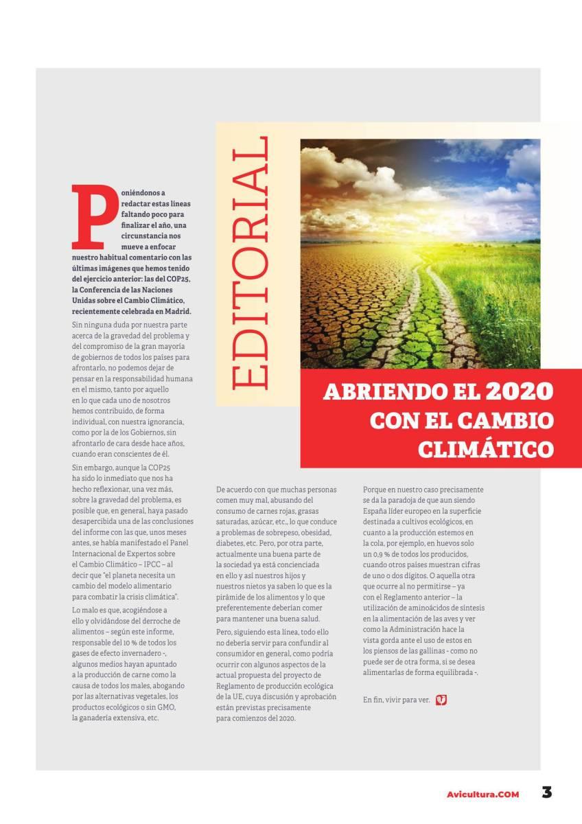 Editorial: Abriendo el 2020 con el cambio climático