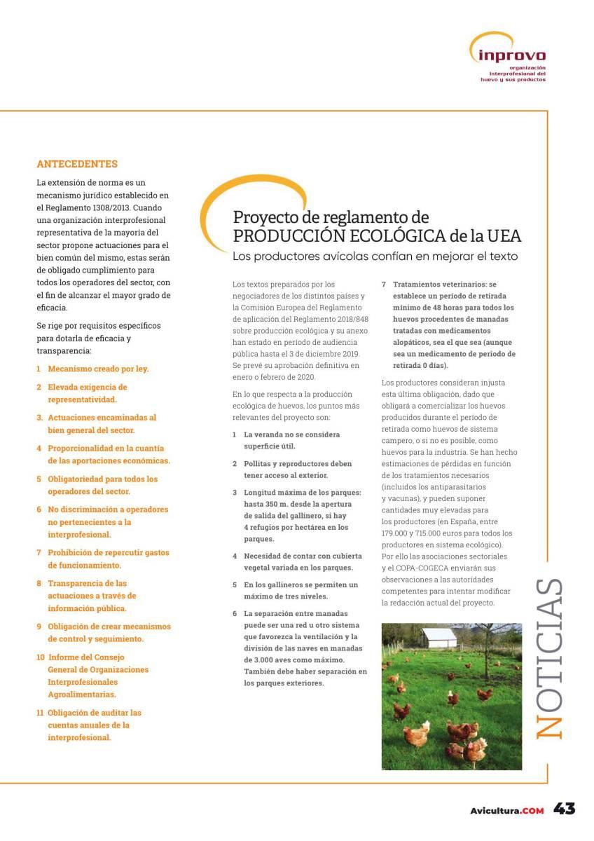 Proyecto de reglamento de PRODUCCIÓN ECOLÓGICA de la UEA
