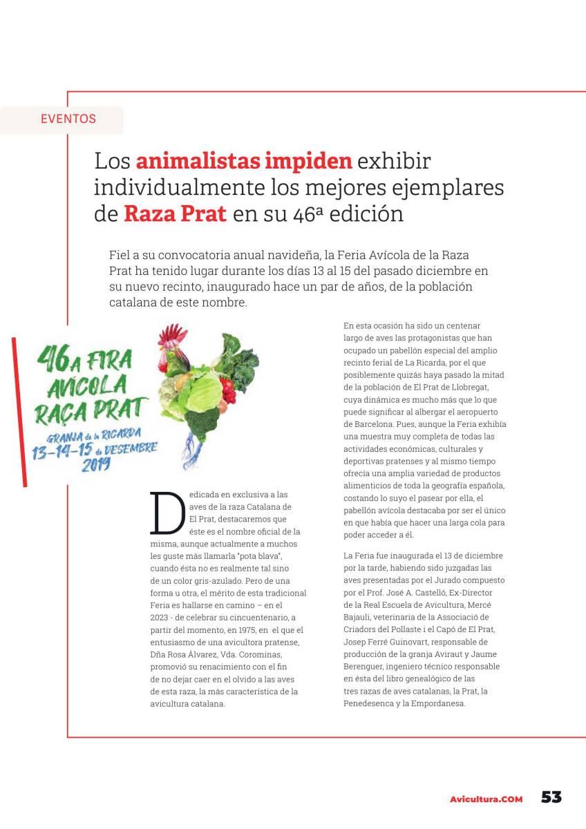 Los animalistas impiden exhibir individualmente los mejores ejemplares de Raza Prat en su 46ª edición