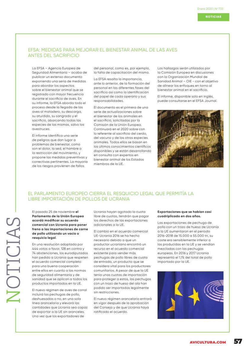 EFSA: Medidas para mejorar el BIENESTAR ANIMAL DE LAS AVES antes del sacrificio
