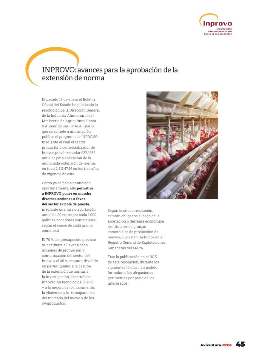 INPROVO: avances para la aprobación de la extensión de norma