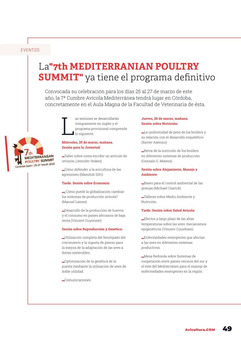 "La""7th MEDITERRANIAN POULTRY SUMMIT"" ya tiene el programa definitivo"