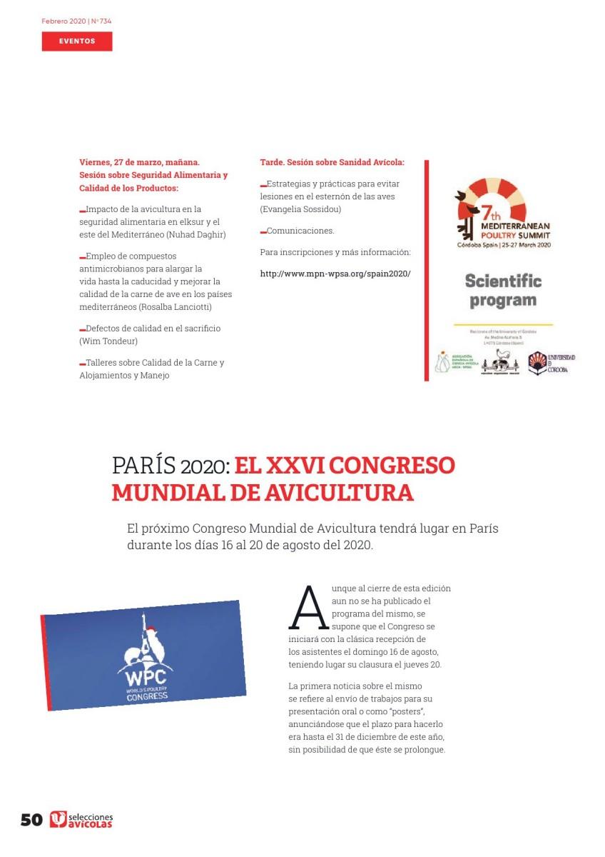 PARÍS 2020: EL XXVI CONGRESO MUNDIAL DE AVICULTURA