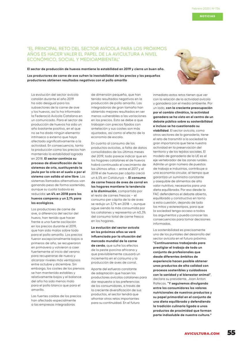 """""""El principal reto del sector avícola para los próximos años es hacer valer el papel de la avicultura a nivel económico, social y medioambiental"""""""