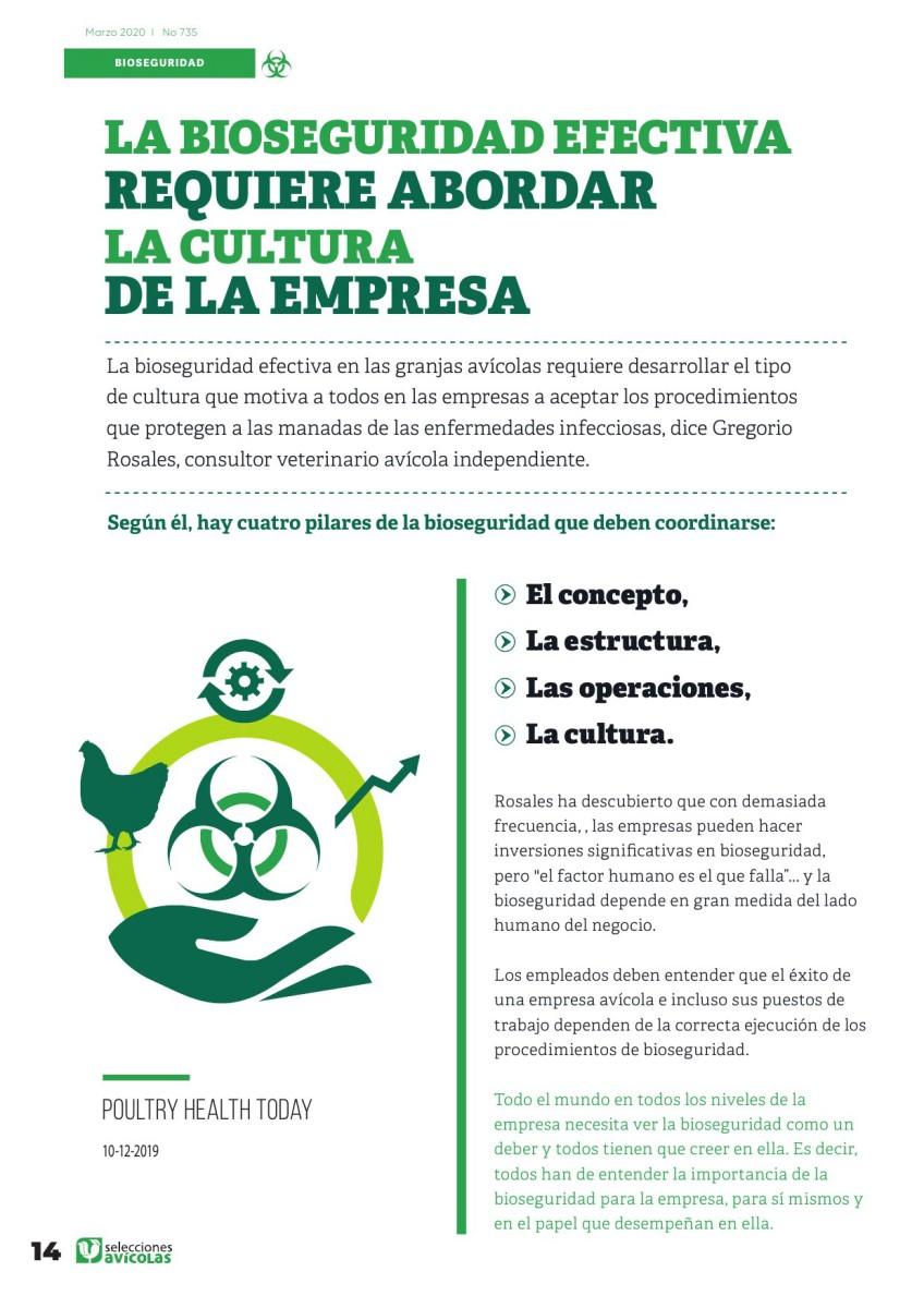 Especial BIOSEGURIDAD EN AVICULTURA:  La bioseguridad efectiva requiere abordar la cultura de la empresa