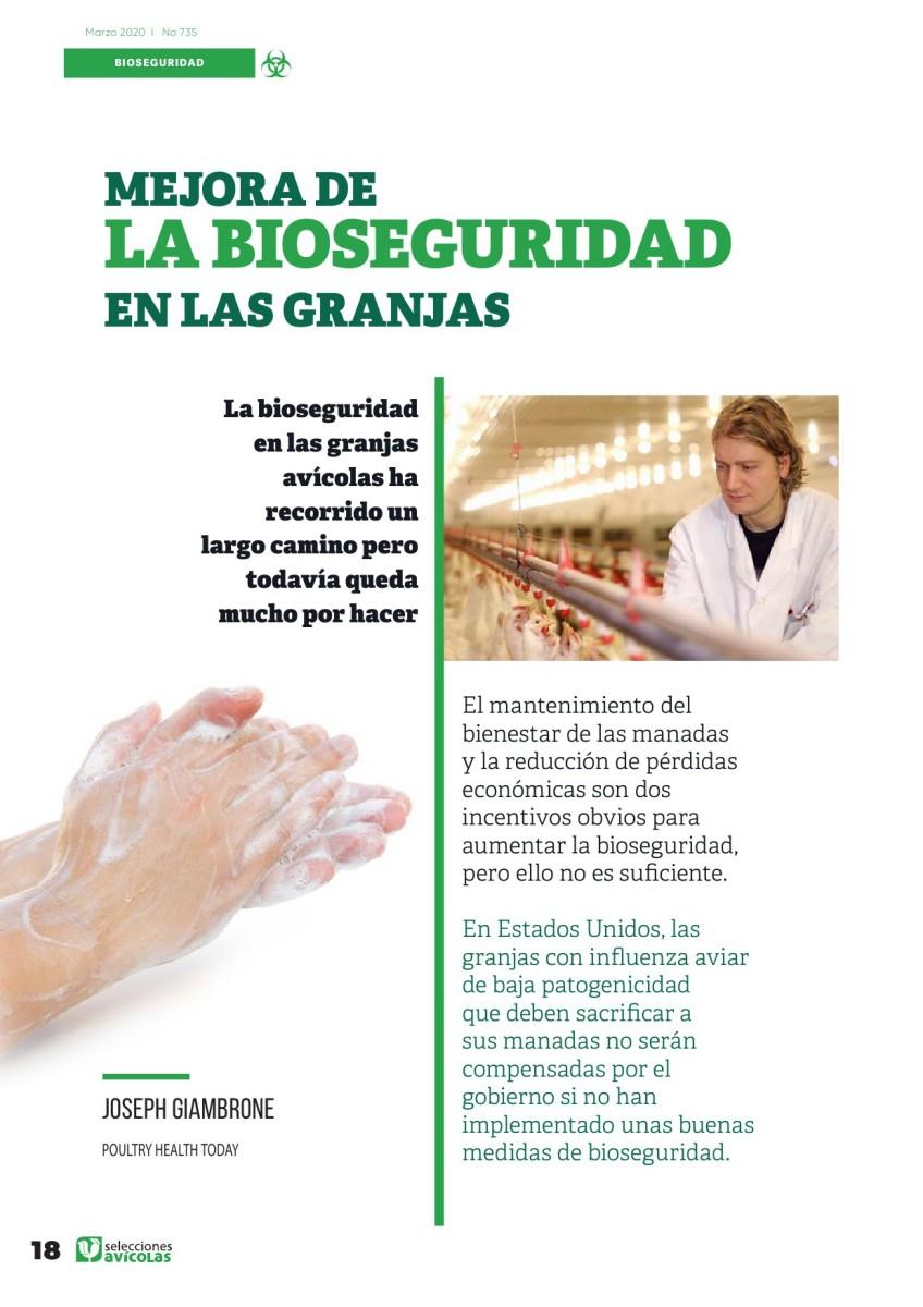 Especial BIOSEGURIDAD EN AVICULTURA:  Mejora de la bioseguridad en las granjas