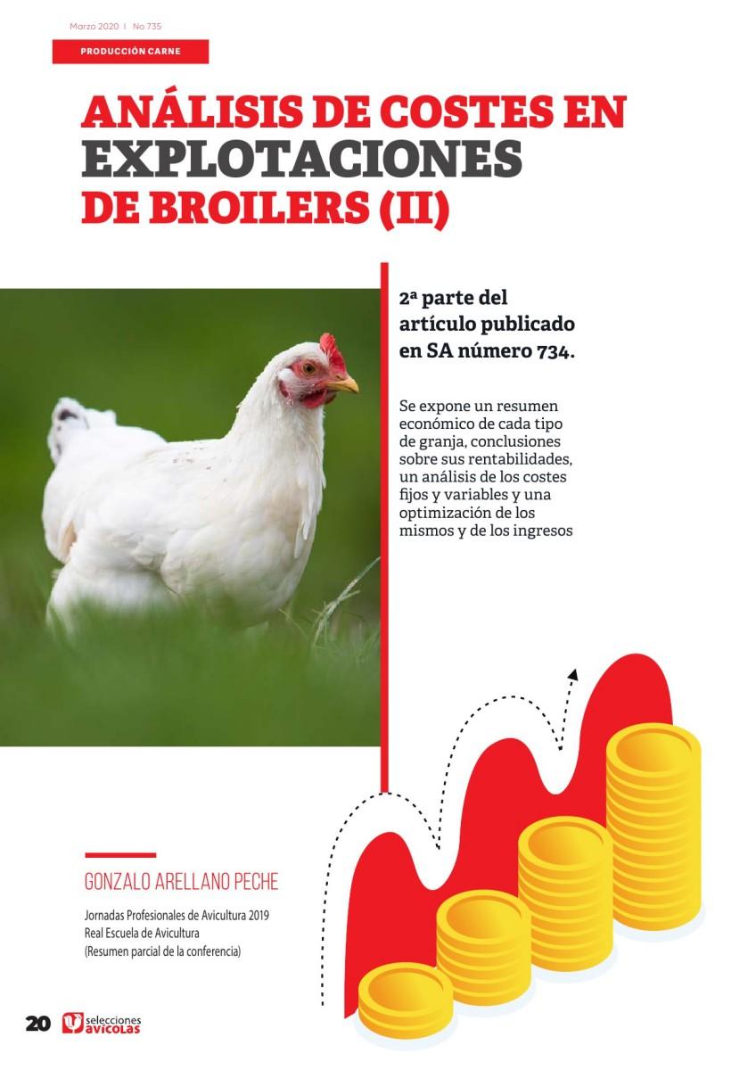 Análisis de costes en explotaciones de broilers  (2a parte)
