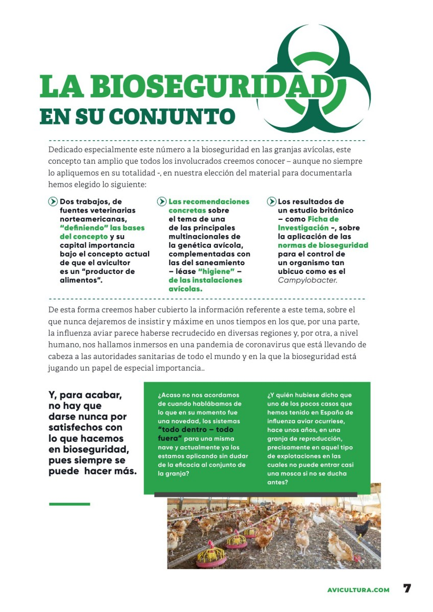 Especial BIOSEGURIDAD EN AVICULTURA:  La bioseguridad en su conjunto