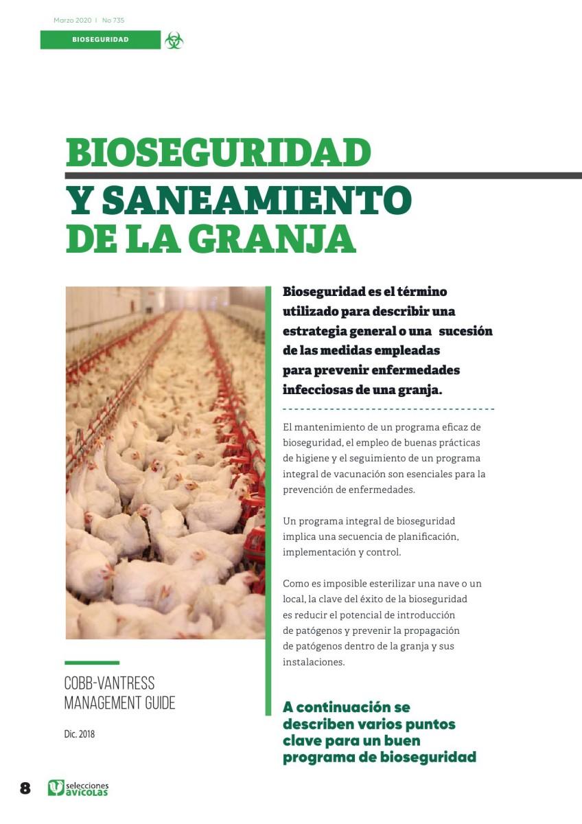 Especial BIOSEGURIDAD EN AVICULTURA:  Bioseguridad y saneamiento de la granja